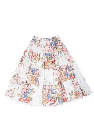 Sadie Little Miss Maxi Skirt Ivory - Little Auguste