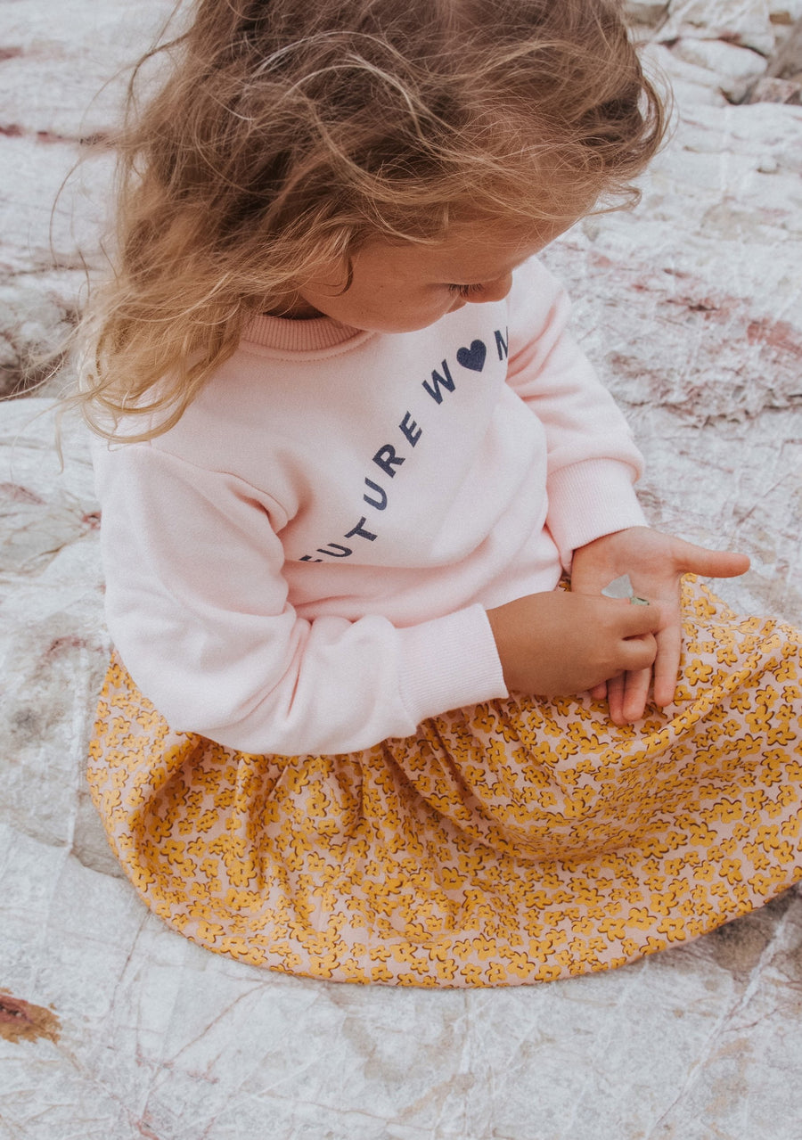 Future Woman Sweater Baby Pink - Little Auguste