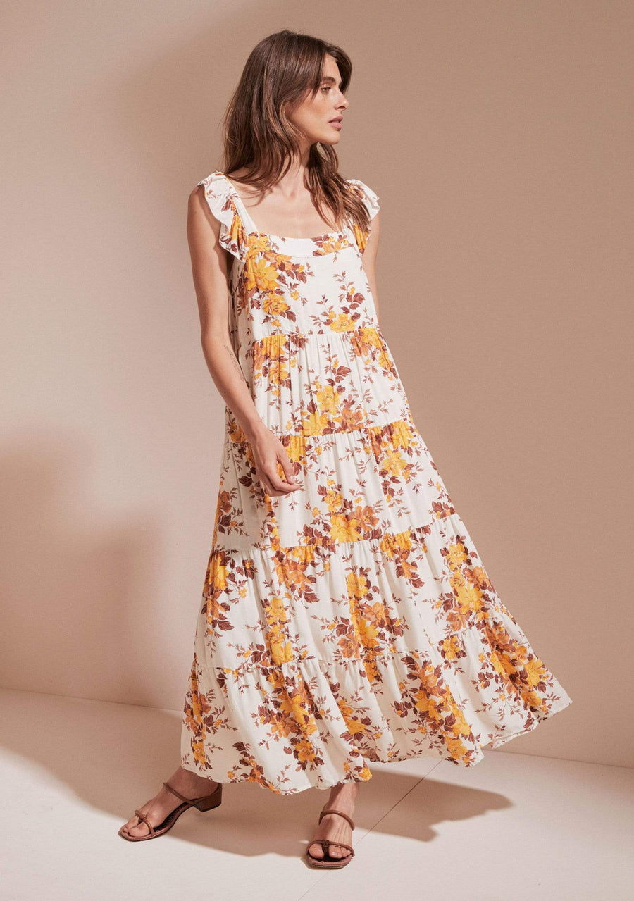 Devon Mina Maxi Dress Ivory - Auguste The Label