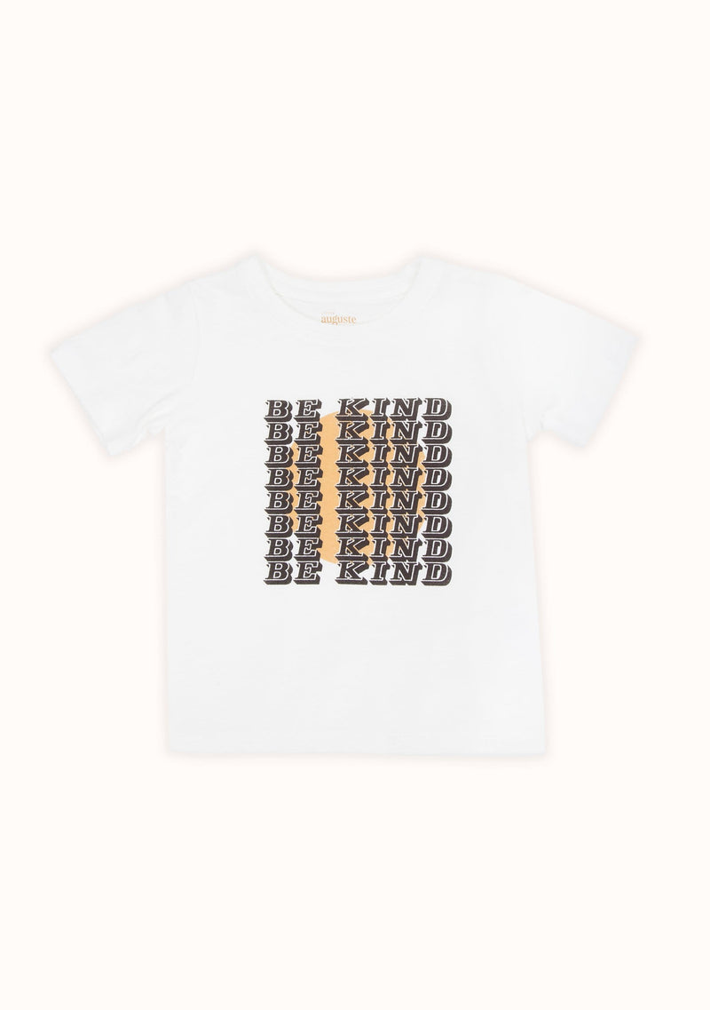REAL, FUN WOW. Be Kind Classic Tee Off White