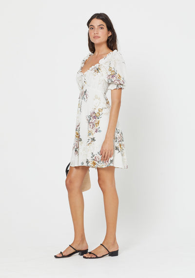 Alice Annika Mini Dress Ivory - Auguste The Label