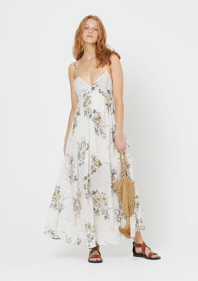 Alice Seville Maxi Dress Ivory - Auguste The Label