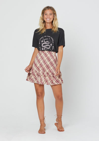 Sloane Hayes Mini Skirt Plum - Auguste The Label