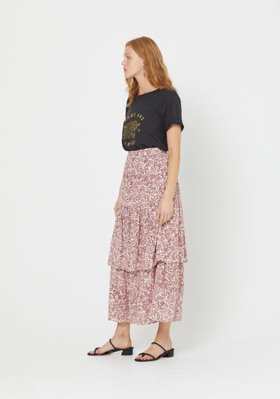 Freya Lise Maxi Skirt Pink - Auguste The Label