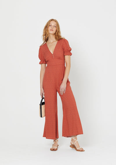 Florence Roma Jumpsuit Terracotta - Auguste The Label