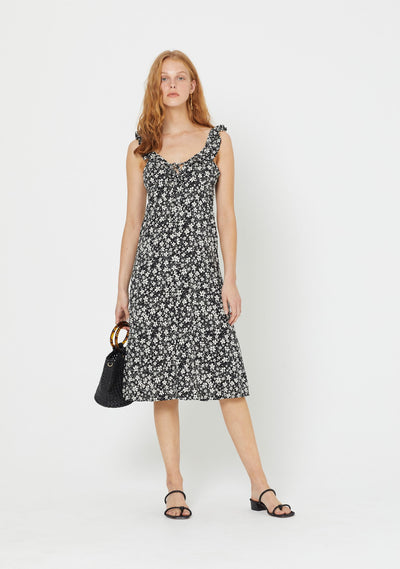 Cole Love Midi Dress Black - Auguste The Label