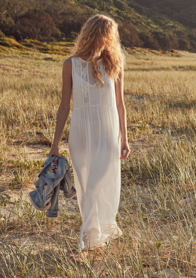 Margot Wren Maxi Dress White - Auguste The Label
