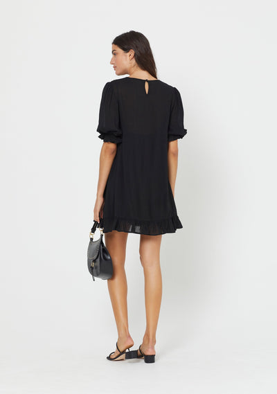 Lila Mini Dress Black - Auguste The Label