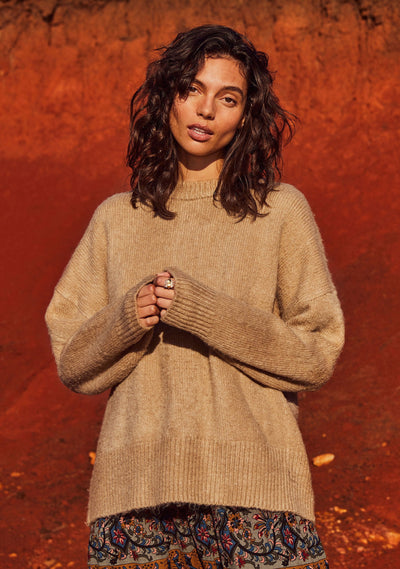Sara Knit Camel - Auguste The Label