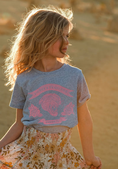 Fearless Tee Grey Marle - Little Auguste