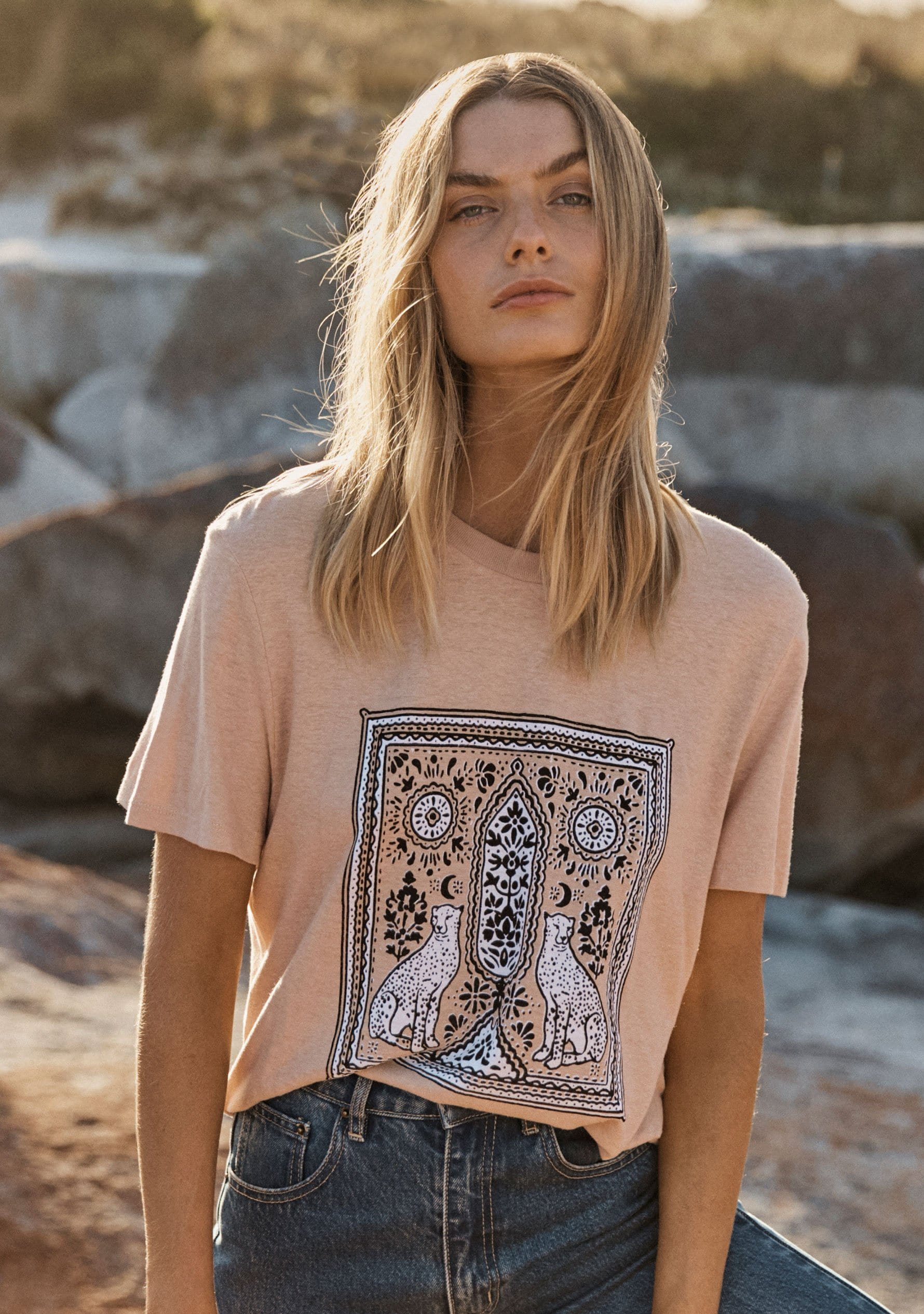 REAL FUN, WOW. Forever Blooming Classic Tee Oatmeal