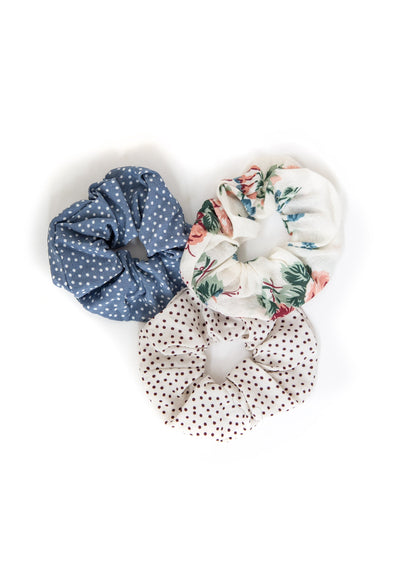 3-Pack Auguste Scrunchies - Tallow - Auguste The Label