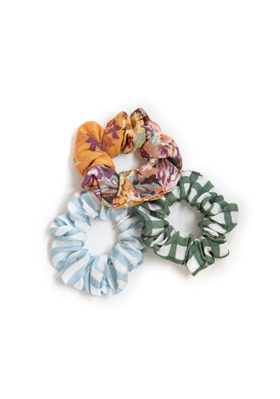 3-Pack Little Auguste Scrunchies - Willow - Auguste The Label