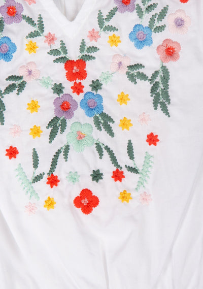 Twiggy Embroidered Blouse White - Little Auguste - Auguste The Label