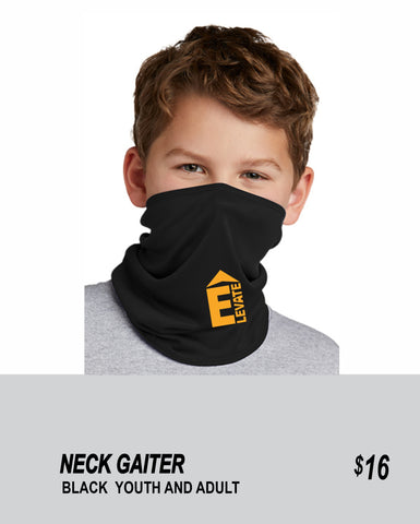 ELEVATE 2021 NECK BLACK GAITER 2