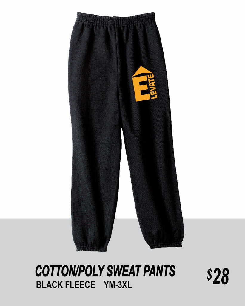 ELEVATE 2021 BLACK SWEAT PANTS