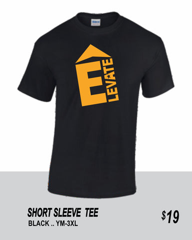 ELEVATE 2021 BLACK SHORT SLEEVE TEE