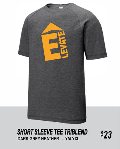 ELEVATE 2021 DARK GREY HEATHER SHORT SLEEVE TRIBLEND TEE
