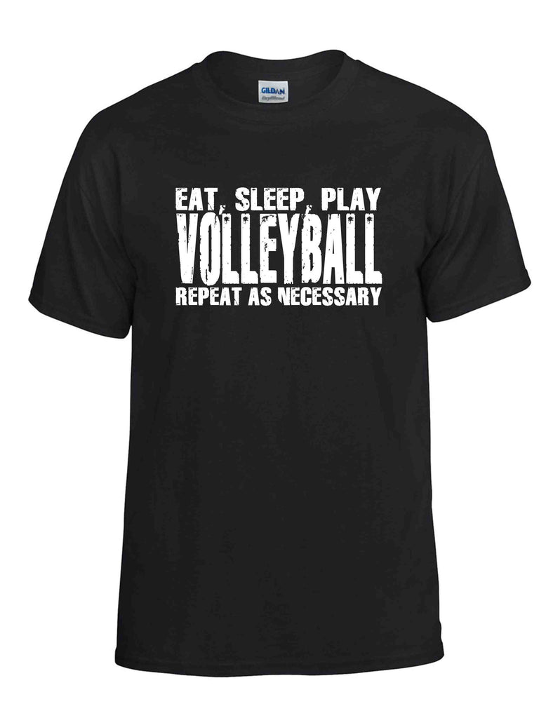 EAT SLEEP PLAY VOLLEYBALL SS BLACK DRYBLEND TSHIRT