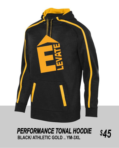 ELEVATE 2021 TONAL BLACK PERFORMANCE HOODIE