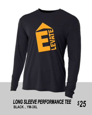 ELEVATE 2021 BLACK LS PERFORMANCE TEE