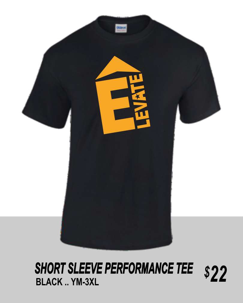 ELEVATE 2021 BLACK SHORT SLEEVE PERFORMANCE TEE