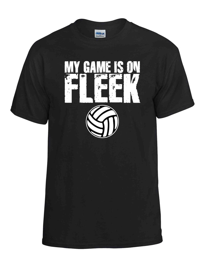 MY GAME IS ON FLEEK SS BLACK DRYBLEND TSHIRT