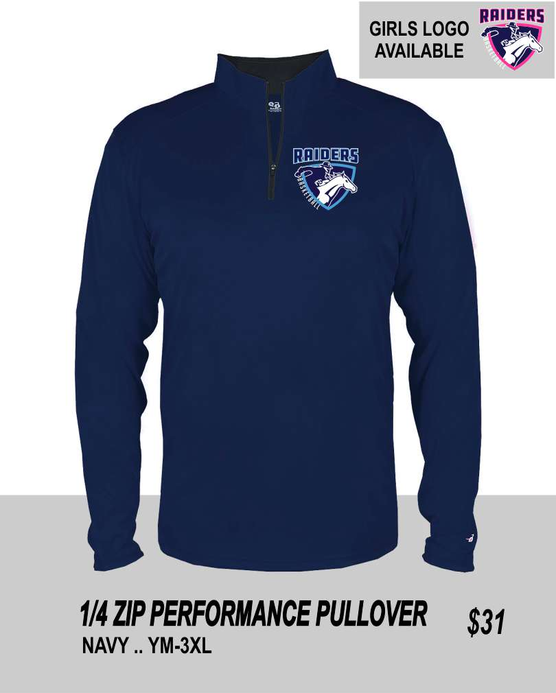 R3 2019 1/4 ZIP PERFORMANCE PULLOVER
