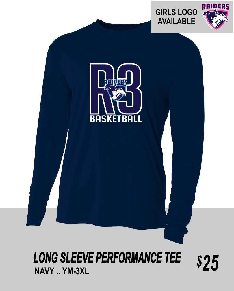 R3 2019 NAVY LS PERFORMANCE TEE