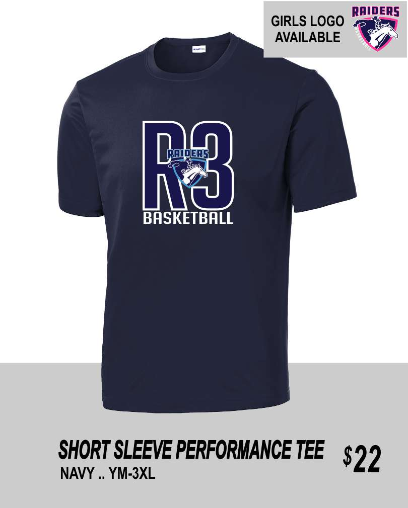 R3 2019 NAVY SS PERFORMANCE TEE