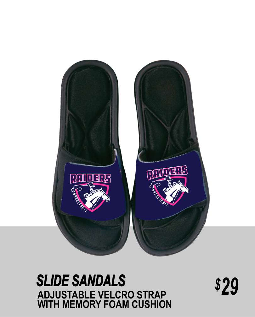 R3 2019 SLIDE SANDALS WITH PINK LOGO