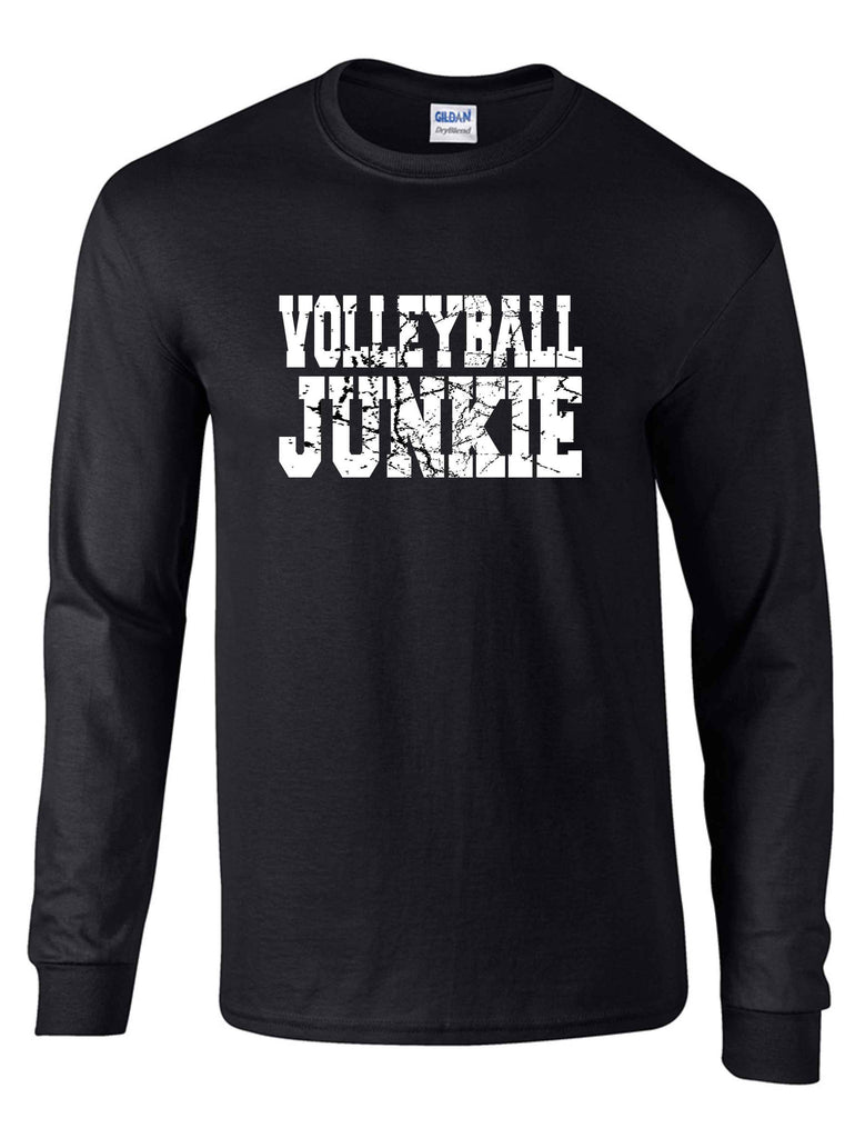 VOLLEYBALL JUNKIE ON A LS BLACK DRYBLEND TSHIRT