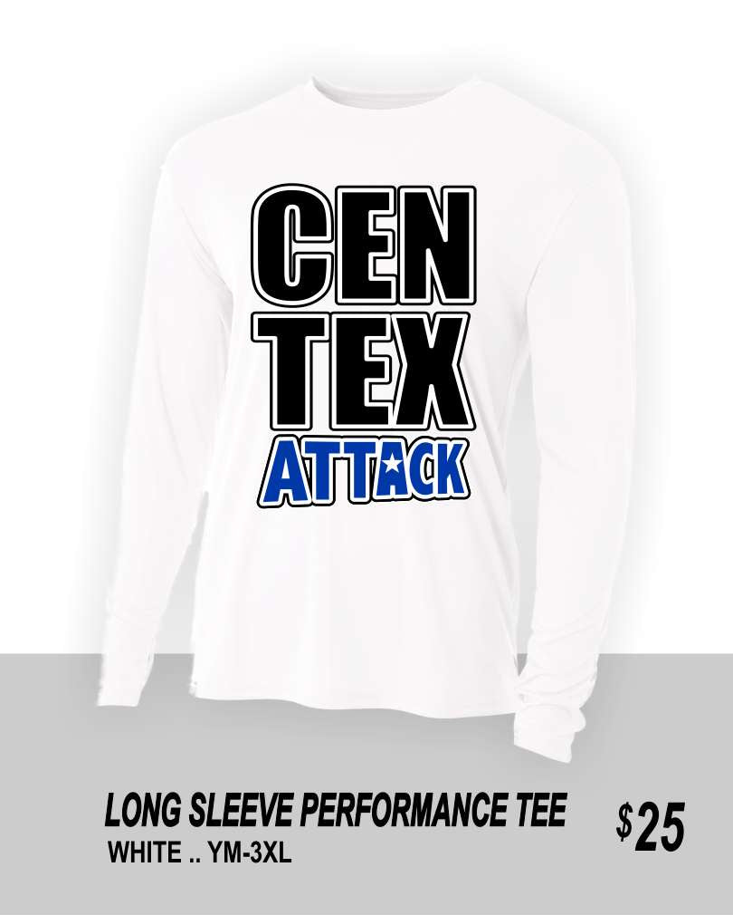CENTEX 2021 WHITE LS PERFORMANCE TEE 2