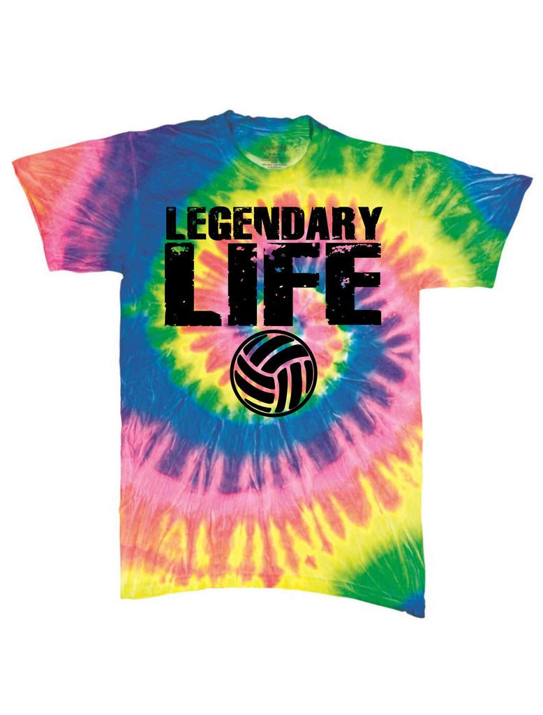 LEGENDARY LIFEBLACK ON A SS TIE DYE TSHIRT