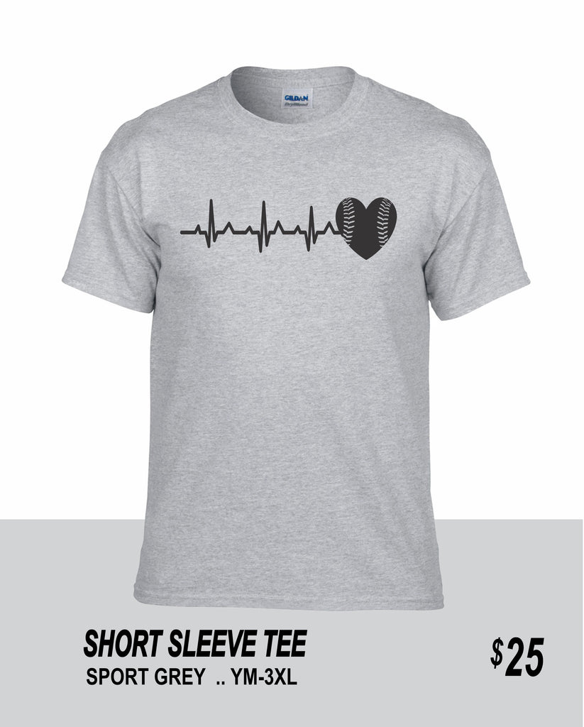 Softball SS Softball Heartbeat Tee