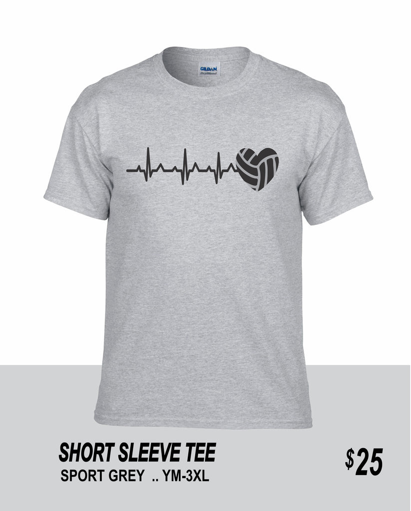 Volleyball SS Volleyball Heartbeat Tee