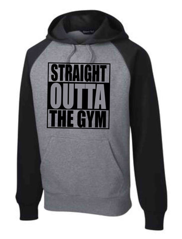 STRAIGHT OUTTA THE GYM GREY/BLACK HOODIE