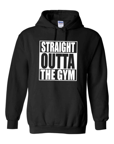 STRAIGHT OUTTA THE GYM BLACK HOODIE