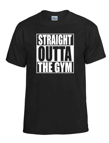 STRAIGHT OUTTA THE GYM SS BLACK DRYBLEND TSHIRT