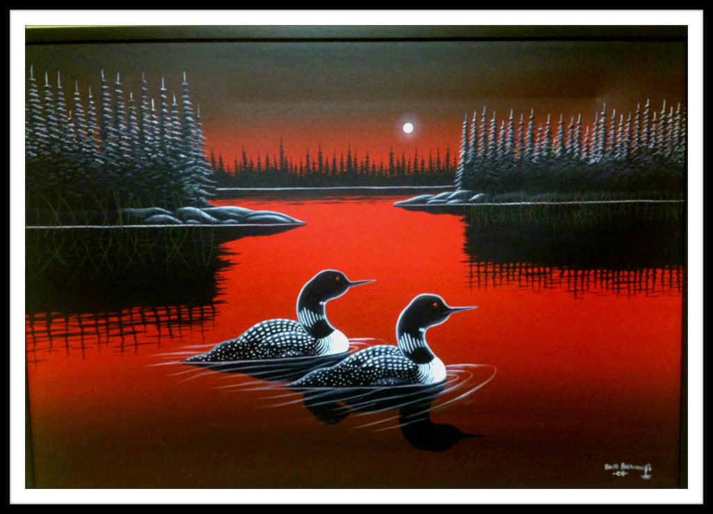 Ralph Barkman Original: Red Lake Loons