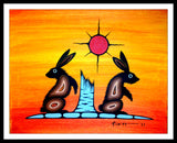 Kurt Flett Original: 2 Rabbits