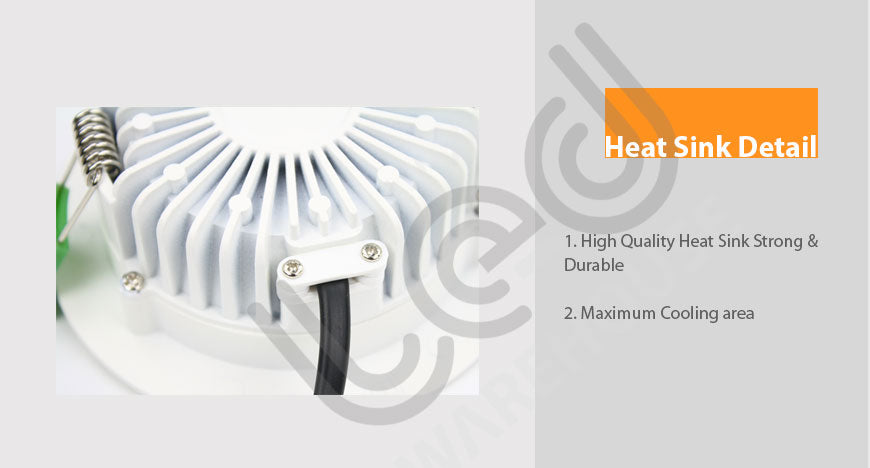 down light 8w-heat sink