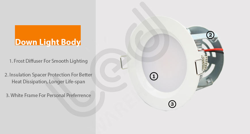 down light 8w-body