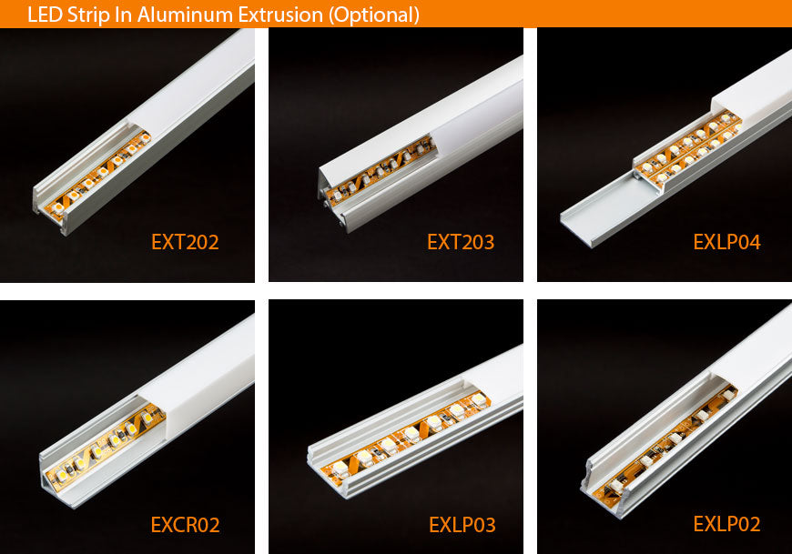 LED Strip in Extrusion Profile Photo