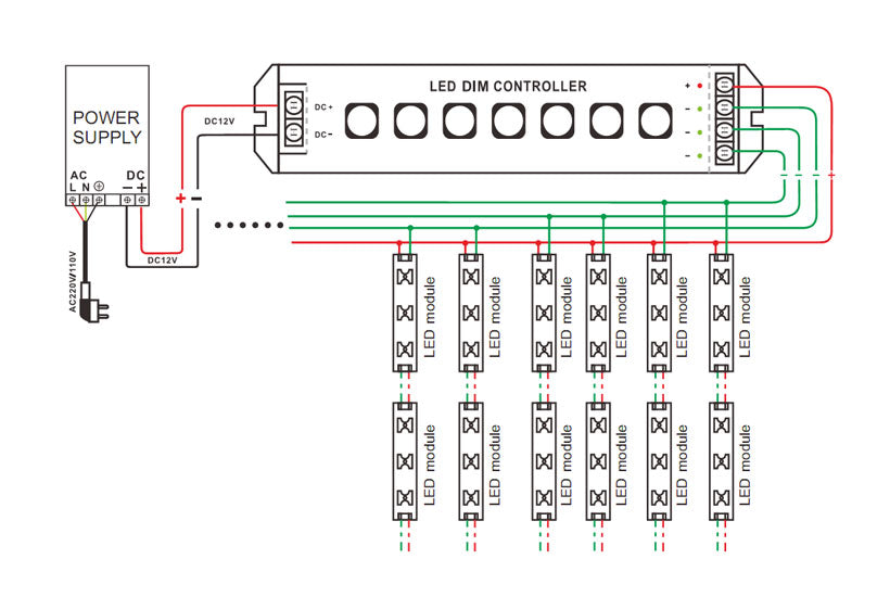 lt 311rf multi function led controller single colour rh light co nz 9V LED Wiring Diagram 12V LED Wiring Diagram