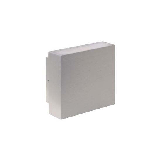 Eurotech Lighting LED 2x3W Up/Down Exterior Wall Light - IP54 - Brushed Aluminium