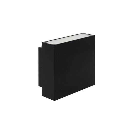 Eurotech Lighting LED 2x3W Up/Down Exterior Wall Light - IP54 - Brushed Aluminium - Black