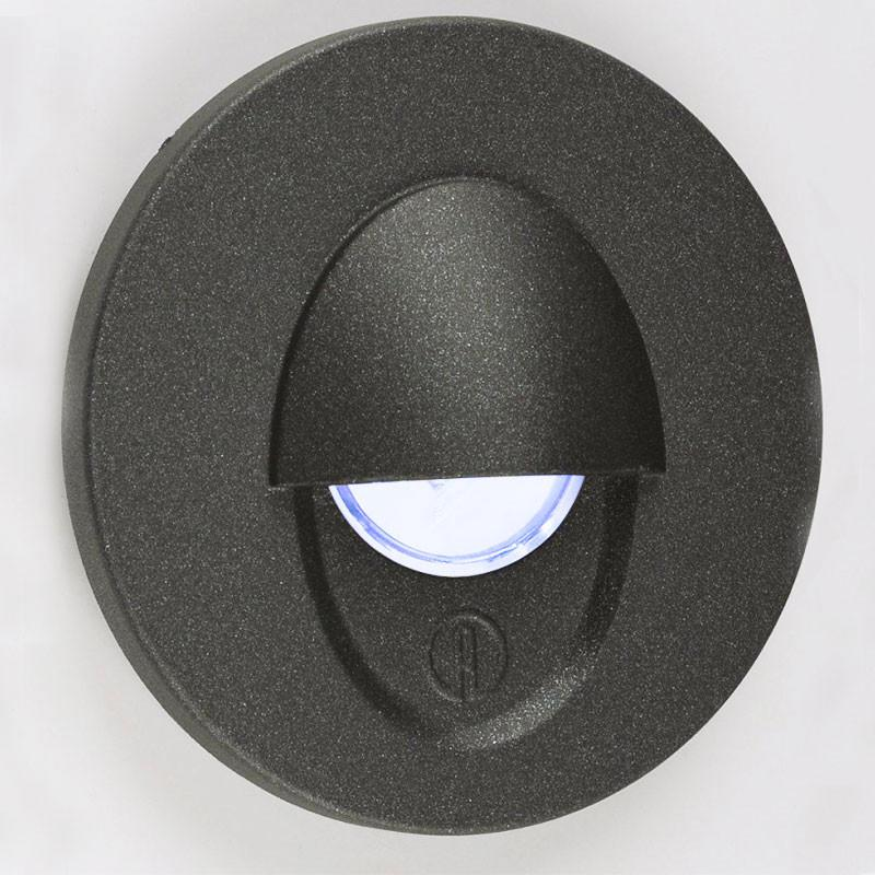 LED 1.2W Aluminium Wall Light - Black Eyelid - Prismatic Diffuser from Eurotech Lighting for $295.99