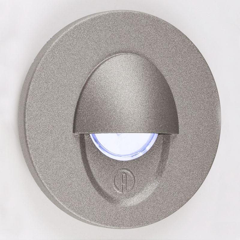 LED 1.2W Aluminium Wall Light - Anthracite Eyelid - Prismatic Diffuser
