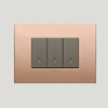 VIMAR Arké Metal 3 Gang Switch -Brushed Copper - 16A